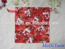 christmas popular festival colorful organza bags
