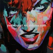 Hot Sale Impressionist Knife Picture Portrait Painting for Decor