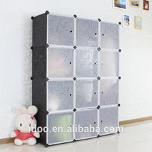 DIY pp plastic material magic cubes wardrobe recycled plastic shelving corner closet (FH-AL0039-12)