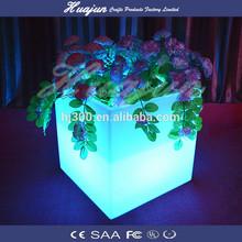 Colourful waterproof led flower planter / flower pot