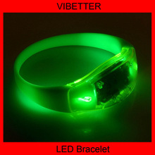 transparent flashing bracelets print silk logo