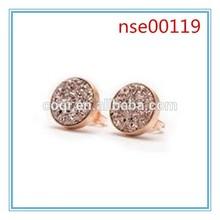 Hot sales popular simple druzy stud earrings