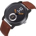 茶色skne9240oranage日本黒革のブレスレットの腕時計ブランド