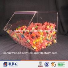 Acrylic Bulk Food Display Bins pop style factory good quality custom acrylic candy box