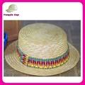 Unique unisex flat top papel étnico banda botero sombreros barato