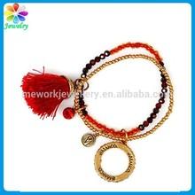 Eternal cheap bulk love engraved charm tag bracelet love tassel wrap
