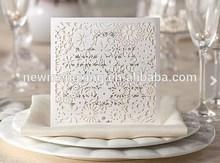 laser cut foral wedding invites , pocket wedding invitaitons design