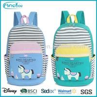 Korean Fashion Popular Canvas Girls School Bag, Horse School Backpack