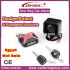 Egypt market hot sale vibration remote car alarm security system with original remote