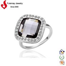 2014 fashion jewelry black stone ring designs for men FPR073