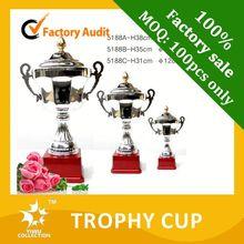 sculpture trophy award,super quality bronze cooperation metal cup trophy,octagonal eagle trophy