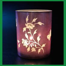 decorative design purple glass candle cup for votive holder