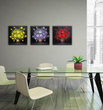 Wholesale home decorative print 3 panel canvas wall art