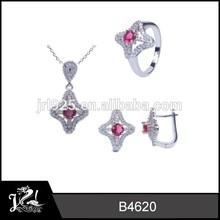 Shuriken lovely costume jewelry,best gift for girl,silver jewelry set