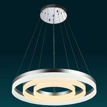Suspended Round circle light LED Ring Lamp Color change pendant light acrylic