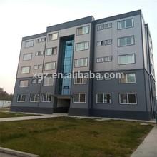 prefabricated multi storey steel structure hotel building