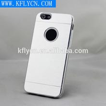 silver effect aluminum+plastic combination protective phone case