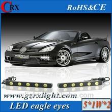 Ruixin Lighting 2 x 5 white waterproof LED headlights with 4 LED 12V 6000k super slim daytime running lights