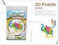3d papel puzzle/mistura pintura cor puzzle jogos/livre diy pintura elefante animal