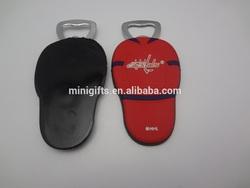 Promotion Gifts Easy Take Rubber Coating Beer Bottle Opener With Belt Clip