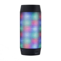 outdoor portable build in FM/Radio function bluetooth colorful light speaker