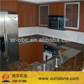 Elegante granito giallo fiorito prefab mostrador de cuarto de baño, encimera de la cocina, losas de granito