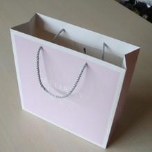 Lavender with white frame paper bag for shopping