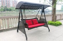 Outdoor hanging chair for 3 people Chinese made beautiful swing chair