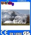 Transparente globo inflable tienda de campaña como de la bóveda