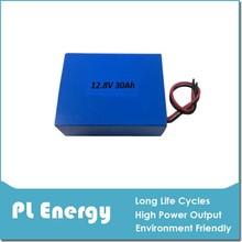 Super long life span lifepo4 12v 30ah outdoor lighting battery pack