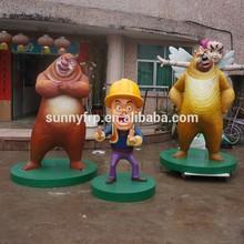 Fiberglass movie bears cartoon statue