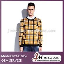 100 acrylic cashmere sweater yellow square men fashion sweater