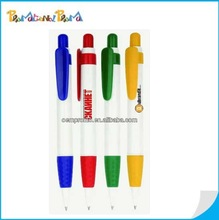 promotional white color ballpoint pen from china factory