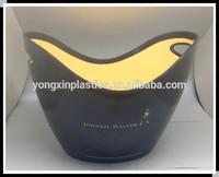 2014 New design Ice Bucket/Oval Plastic ice Bucket/Shoe-shaped gold ingot ice bucket