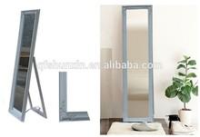 Modern style wooden framed dressing full body mirror