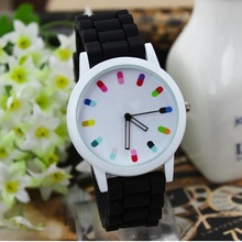 2014, the latest Geneva, fashion, ms, leisure, quartz, lovers, student, clover, silica gel, fashion watches, 12 kinds of color