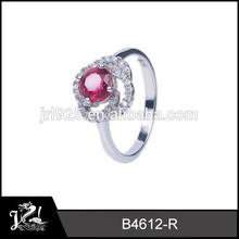 popular rose flower design jewelry value 925 sterling siver ring