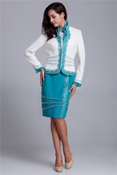 Embroidery Beading fashion skirt suit