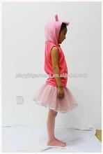 Caliente venta de la muchacha de la etapa de la danza niños peppa cerdo del traje de PLCC-1044