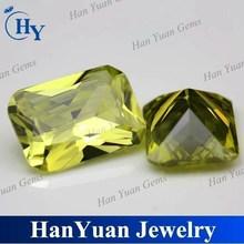wholesale semi precious octagon olive green gems
