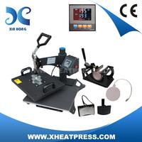 Combo 4 in 1 t shirt cap mug plate heat transfer press printing machine