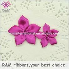 Wholesale fuschia small satin flowers accessories for garment