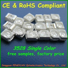 High Lumens High Quality Epistar chip Red/Yellow/Green/Blue/UV/White 3528 smd led CE&RoHS