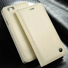 leather wallet case cover for iPhone 6 plus, for iphone 6+ case cover with stand function