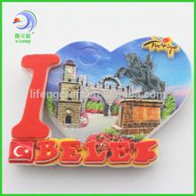 Custom Made Tourist Souvenir Resin Fridge Magnet