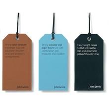 Custom fashion elegant clothing hang tags and labels