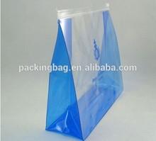 European standard low MOQ custom plastic bag clear vinyl PVC pouch with zipper