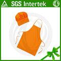 2014 novos produtos personalizados promocionais baby shower avental com chapéu