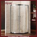 Lowes portes-fenêtres coulissantes en verre salle de bains préfabriquées de douche