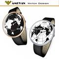Alibaba exprimer nouveau design carte du monde montre cadran de haute qualité montres à quartz